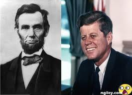 Similarities between US President Abraham Lincoln and US President John F. Kennedy