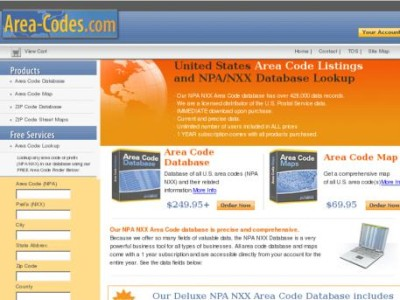 Top Web app – Area code for USA and Canada in Area-codes.com