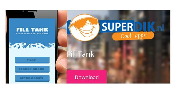 Fill Tank Color Water for iOS Game