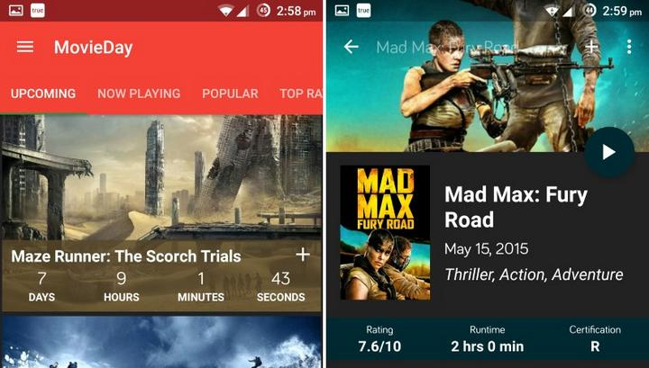 movieday for android appsread android app reviews iphone app