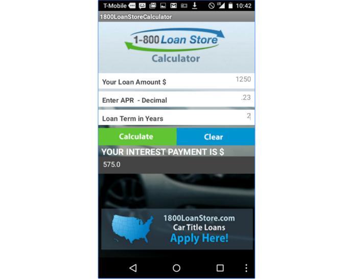 amortization calculator - appsread