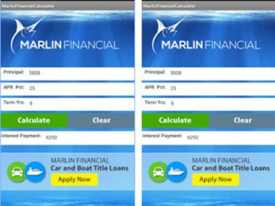 Marlin Loan Calculator for Android
