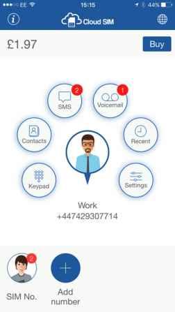 Cloud SIM - Cheap Calls & Text
