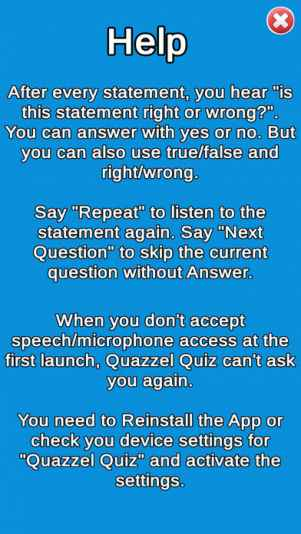 Quazzel Quiz: Speak your answer